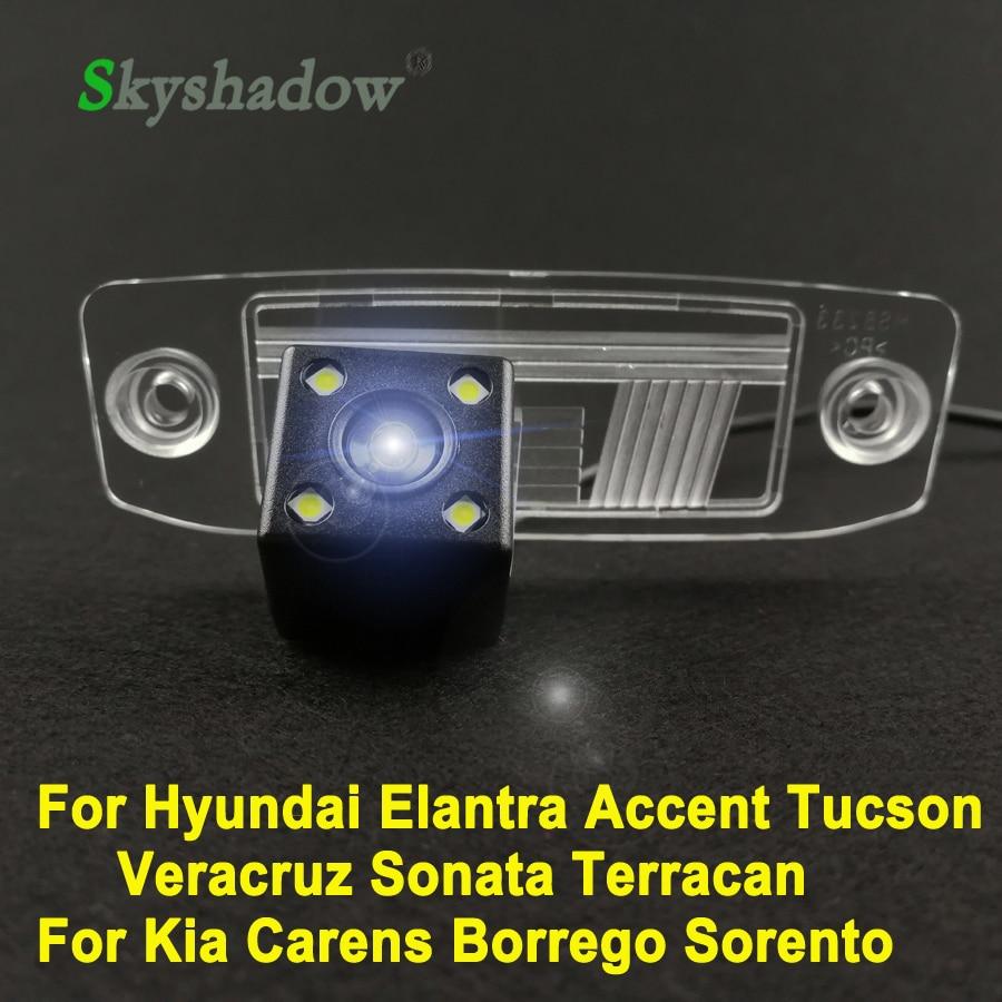 Car CCD 4LEDS Vehicle Backup 140 degrees Rear View Reversing Camera For Hyundai Elantra Accent Tucson Veracruz Sonata Terracan