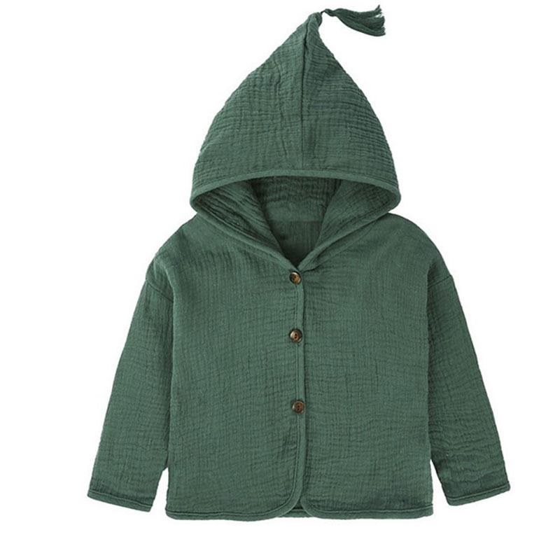 Tops Shirt Girls Jackets Kids 2019 New Baby Boys Clothing Tassel Hat Design Cotton Linen Children Cardigan 1-6Y Blouse Toddler