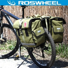 ROSWHEEL 50L sac étanche pour vélo sac porte-vélo rétro en toile sac de cyclisme Double côté arrière porte-bagages arrière siège arrière coffre sacoche deux sacs