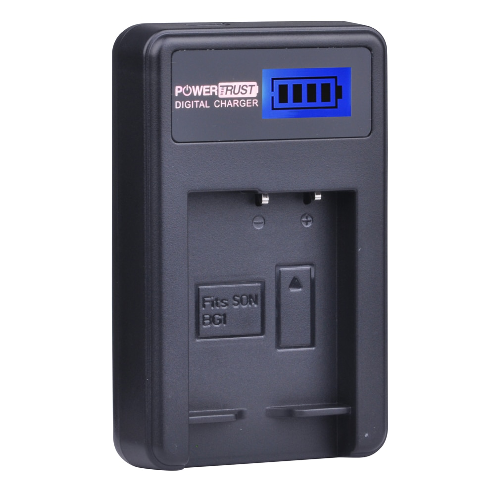 1X NP-BG1 NP BG1 NPBG1 NP-FG1 cargador USB con LCD para SONY Cyber-shot DSC-H3 DSC-H7 DSC-H9 DSC-H10 DSC-H20 DSC-H50 DSC-H55 batería