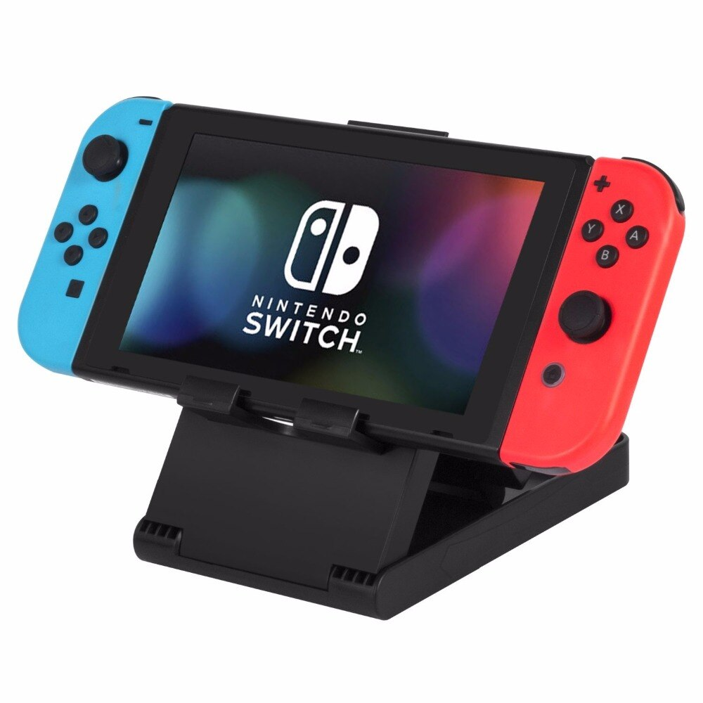 Anti-deslizamento ajustável dobrável plástico compacto suporte suporte suporte suporte para nintendo switch nx nx console controle
