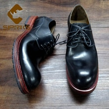 Sipriks Imported France Calf Leather Goodyear Welted Shoes Mens Casual Leather Footwear Shoes Big Ro
