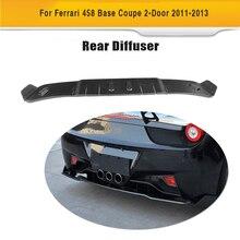Diffuseur déchappement en Fiber de carbone   Pare-chocs arrière en Fiber de carbone pour Ferrari 458 Italia Spider coupé 2 porte 2011-2013 Convertible