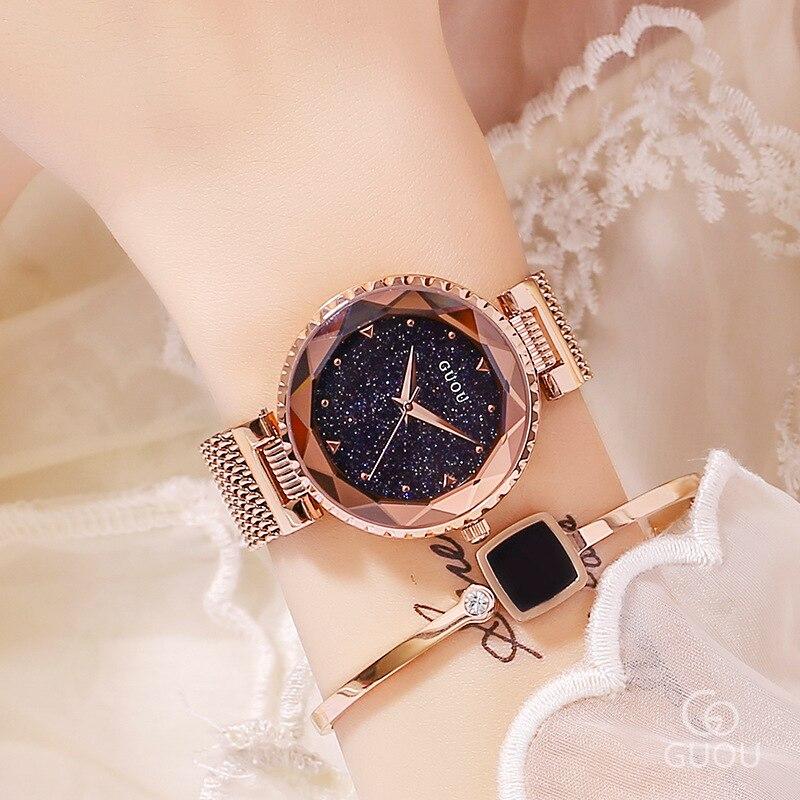 Top Brand Black Quartz Watches Women Luxury Stainless Steel Wristwatch Clock Ladies Crystal Watch Dress Watch Woman montre femme enlarge