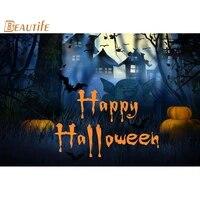 Personnalise Halloween affiche decoration de la maison mode soie tissu affiche murale affiche personnalisee de haute qualite S008