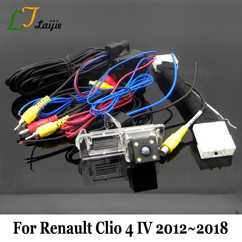 Auto Backup-Kamera Für Renault Clio 4 IV 2012 ~ 2018/OEM Monitor Kompatibel Rückansicht Kamera Mit 24Pin adapter Kabel