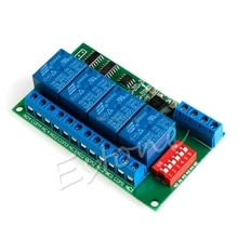 12V RS485 Relais 4CH Modbus Rtu Pc Uart Board Voor Plc Lamp Led Ptz Camera Control Dropshipping/323
