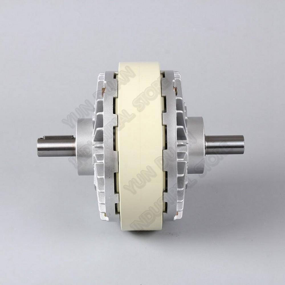 10 كجم 100Nm تيار مستمر 24 فولت مزدوجة رمح المزدوج المغناطيسي مسحوق مخلب 2 محور لف الفرامل للتحكم في التوتر حقيبة الطباعة آلة الصباغة