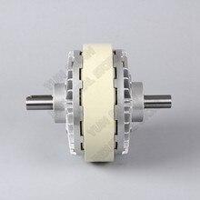 10kg 100Nm DC 24V Double arbre Double embrayage à poudre magnétique 2 axes frein denroulement pour sac de contrôle de Tension Machine de teinture dimpression