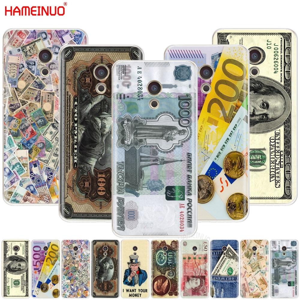 HAMEINUO cash money dólar Rublo Tampa Caixa do telefone para Meizu M6 M5 M5S M2 M3 M3S MX4 MX5 MX6 PRO 6 5 U10 U20 nota plus