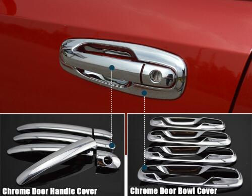 Cubiertas exteriores para manija de puerta de coche para Buick Chevrolet Lacetti Optra Daewoo Nubira Suzuki Forenza Holden accesorios adhesivos cromados