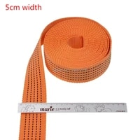 2inch 5cm 5meters thickening orange polypropylene webbing ribbon tape bias straps for bags hand made sewing accessories belt