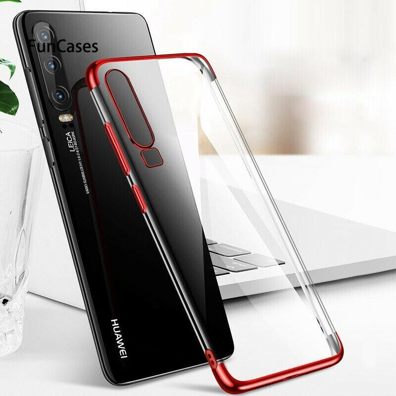 Capa Teléfono de caso suave para Huawei P30 P20 Mate20 lite Pro 20X Y9 P smart Nova4 3 3i 2lus Honor 10/8Xlite 8C 8A note10 8X