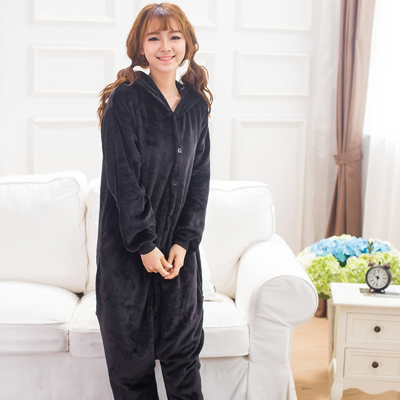 Animales Kigurumi Kumamon disfraz niña adulta niños Onesie franela Halloween mujeres Anime traje disfraz Onepiece traje