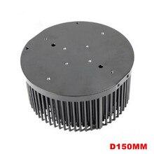 150mm aluminium Pre-gebohrt pin fin LED kühlkörper für COB CREE CXB3590 Bridgelux Vero29 gen7 Citizen clu048 1212 led wachsen lichter