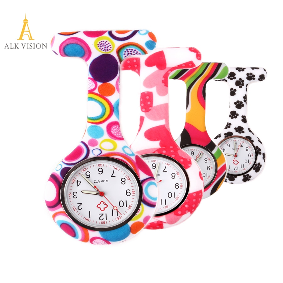 FOB Silicone nurse watch doctor nurse gift butterfly pattern Japanese movt high quality brand hospital nurse watch ALK VISION фото