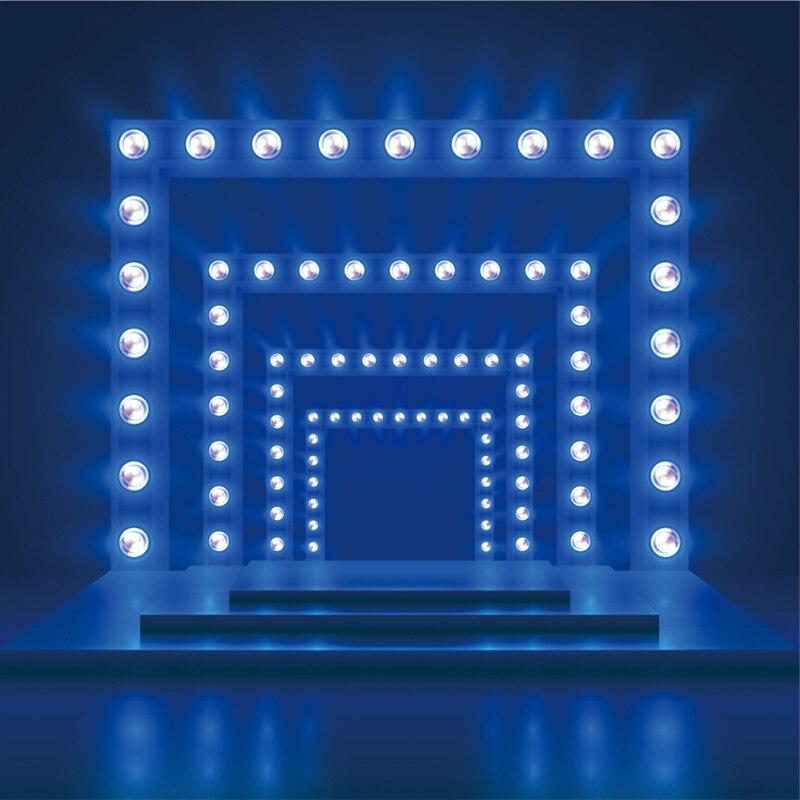 Laeacco Blue Spotlight puerta pasillo escénica fotografía fondos fotográficos personalizados para estudio fotográfico