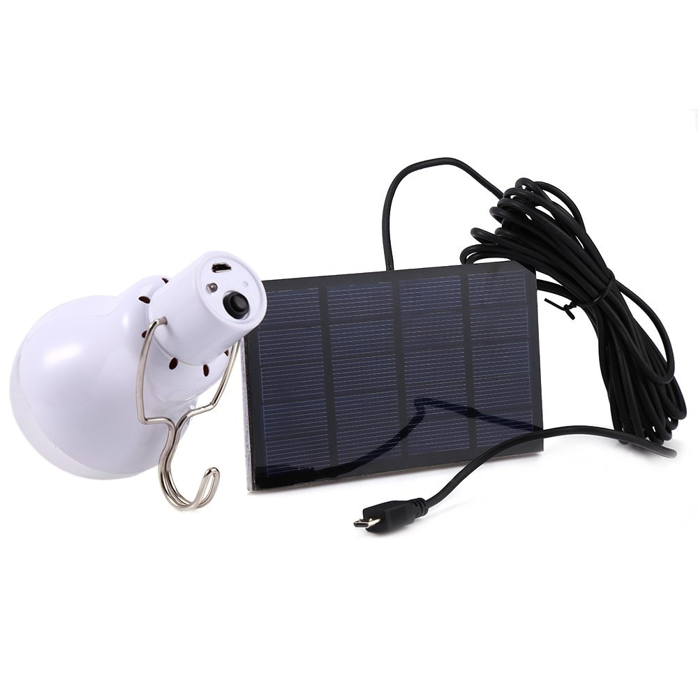 15W 130LM Solar Power Outdoor Light Lamp Portable Bulb Energy Led Lighting