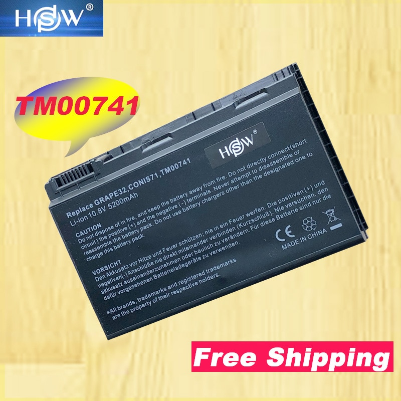 HSW batería del ordenador portátil para Acer GRAPE31 GRAPE32 GRPAE34 TM5720 TM7520 TM7720 TM00741 TM00751 Extensa 5220 5620Z 5620G 5630G 7620G
