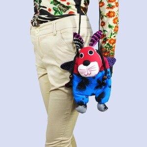 Free shipping handmade women lovely cute cat handbags shoulder purse cartoon rabbit bag ringing bell shoulder bag sys-556