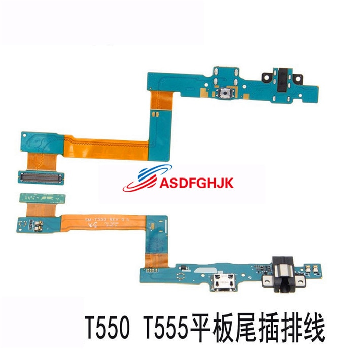 Para Samsung Tablet SM-T550 T555C enchufe de cola para carga cable orificio para auriculares interfaz USB botón de arranque tablero pequeño completamente probado