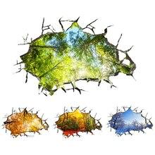 4 مواسم المشهد 3D ملصقات الحائط شجرة جدار الشارات الطابق سقف أريكة التلفزيون الديكور غرف النوم غرفة المعيشة غرفة الاطفال ديكور المنزل