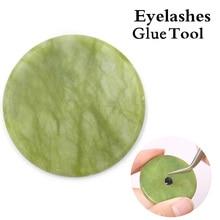 NAGARAKU pegamento Jade Junta reutilizable y fácil de limpiar utensilio de extensión de pestañas pegamento almohadilla herramienta de maquillaje