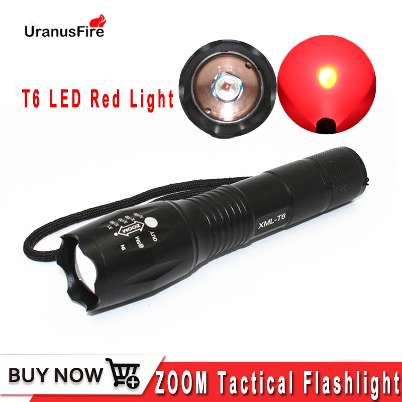 tactical torch q5 r5 led 600lm light 802 flashlight white red green blue light for outdoor camping hunting Uranusfire Red Light T6 LED Tactical Flashlight 5 Modes zoomable torch outdoor hunting Hunting Camping Linternas light lamp