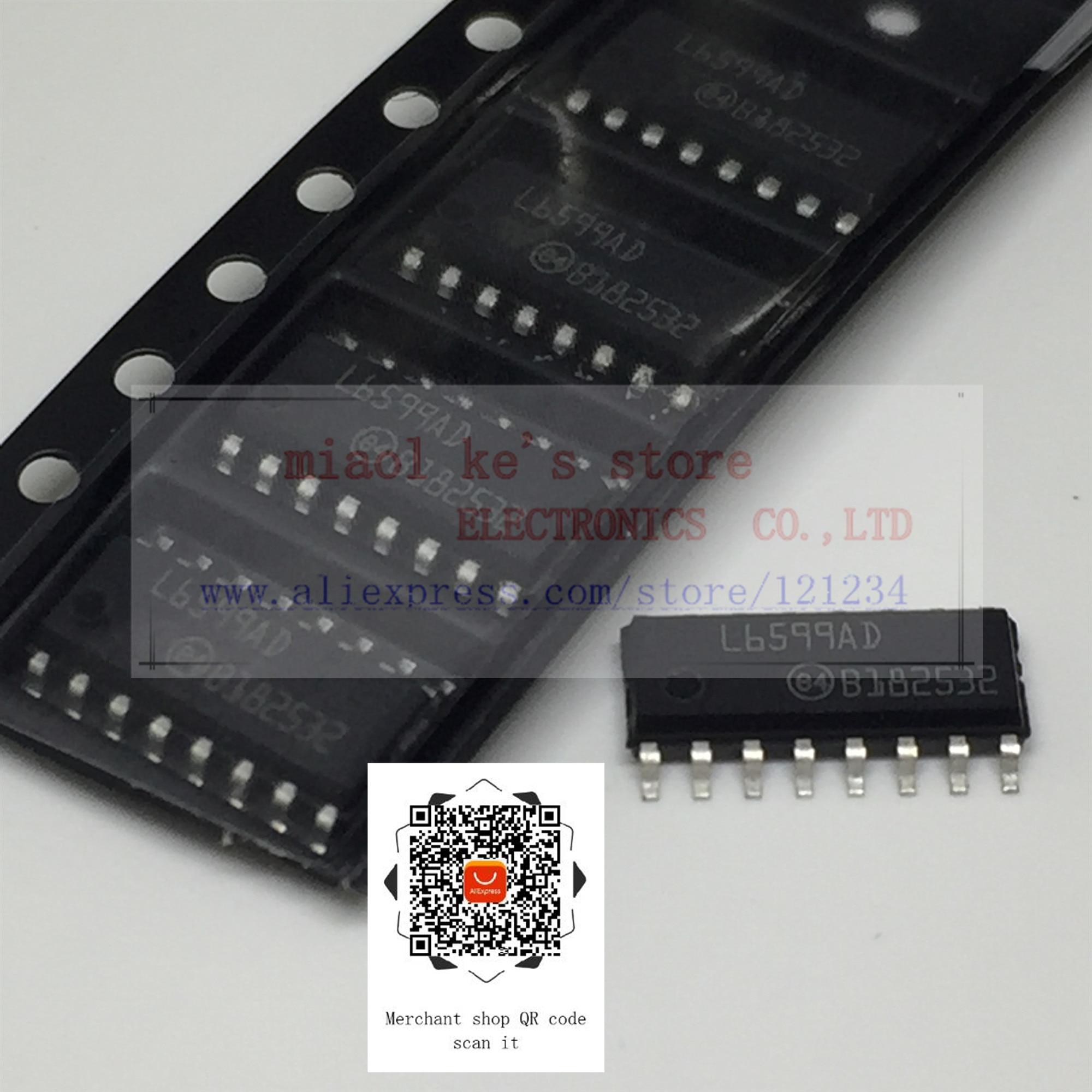 [ 5pcs/1lot or 10pcs/1lot ]100%New original; L6599ADTR L6599AD L6599A 6599AD 6599 - IC RESONANT CONVRTR CTRLR 16SOIC