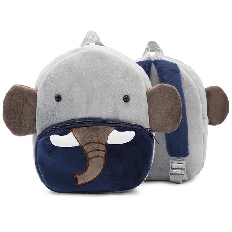 Children Plush Backpacks Kids 3D Cartoon Animal Elephant Schoolbag Kindergarten Baby Girls Boys Cute School Bags
