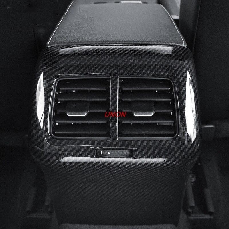 Accesorios de coche aire acondicionado fila posterior marco decorativo apto para Golf 7,5/7/Rline cubierta trasera anti-kick mat anti kick mat