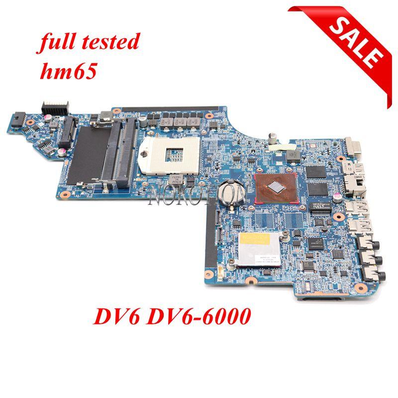 NOKOTION placa base de computadora portátil 659998-001 para HP DV6 DV6-6000 placa principal de 641487-001 659147-001 HPMH-41-AB6200-D00G DDR3 la prueba