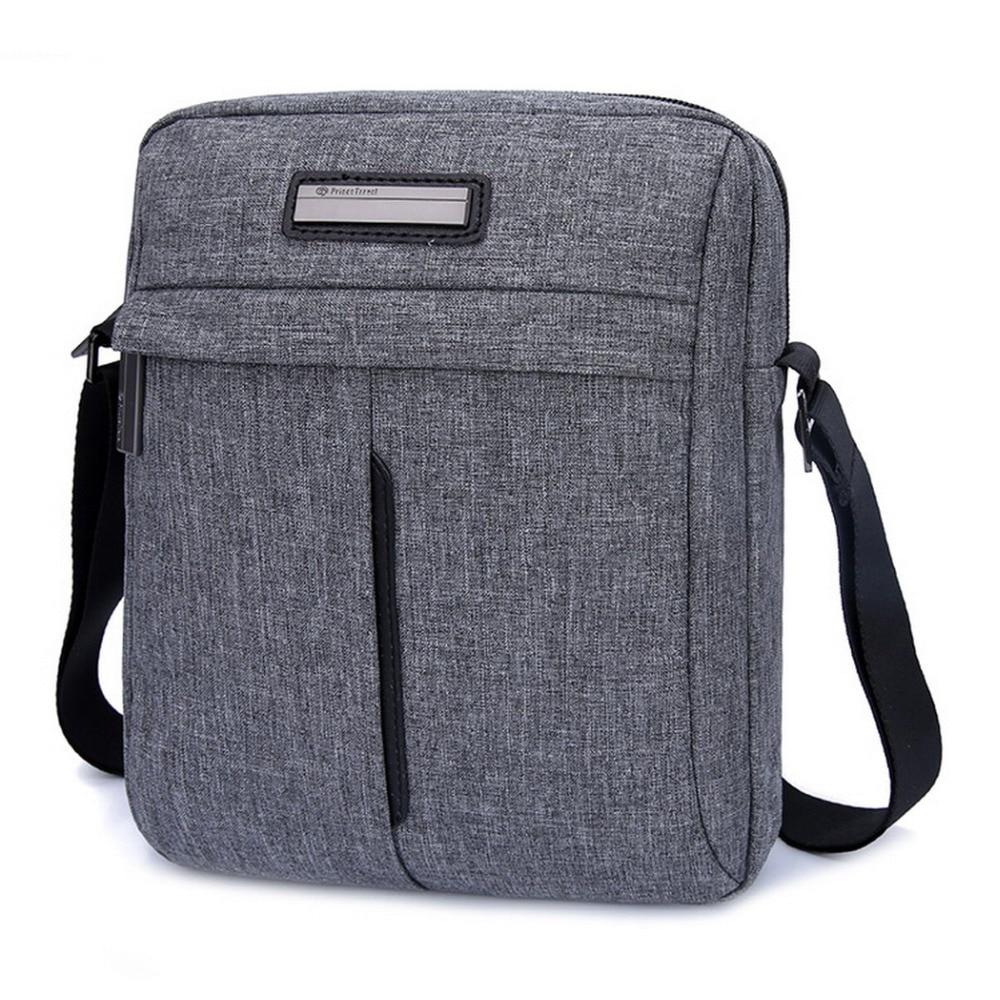 "Prince Travel Unisex Fashion Messenger Bag Women Men's Single Shoulder Bags For 7.9"" 9.7"" Inch iPad Air Mini Gray & Black Grey"