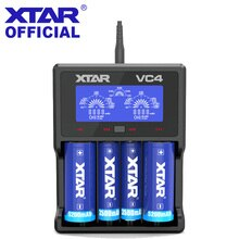 XTAR Caricabatteria VC2 VC4 VC2S VC4S LCD Caricabatteria Per 14500 14650 18350 18490 18500 18700 26650 22650 20700 21700 18650 batteria