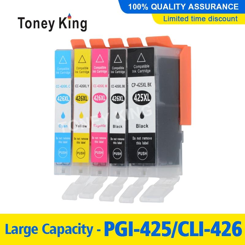 Toney rey PGI-425 PGI 425 cartucho de tinta 426 para Canon PIXMA IP4840 IP4940 IX6540 MG5140 MG5240 MG5340 MX714 MX884 MX894 impresora