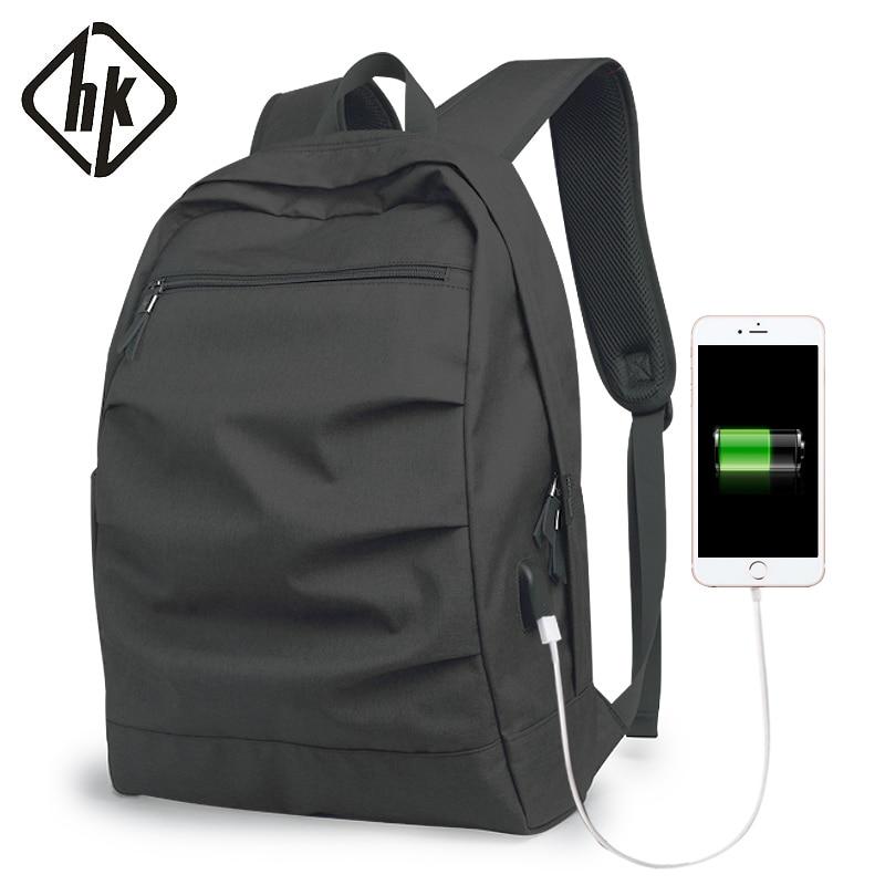 Men's Backpack Waterproof back pack Male Laptop Notebook Backpack 15.6 Inches School Bags USB Black Casual Travel Road Backpack