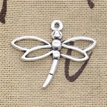 20pcs Charms Dragonfly 32x27mm Handmade Craft Pendant Making fit,Vintage Tibetan Bronze Silver color,DIY For Bracelet Necklace