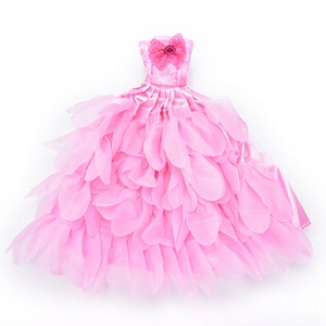 Evening Dress For Doll Wedding Dress Furniture For Dolls Puppet Clothes For Dolls Accessories