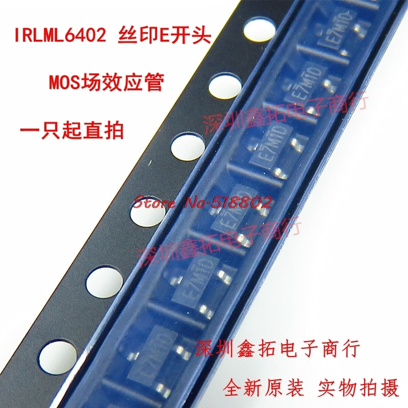 20 unids/lote IRLML6402TRPBF IRLML6402TR IRLML6402 20V 3.7A SOT-23 en Stock