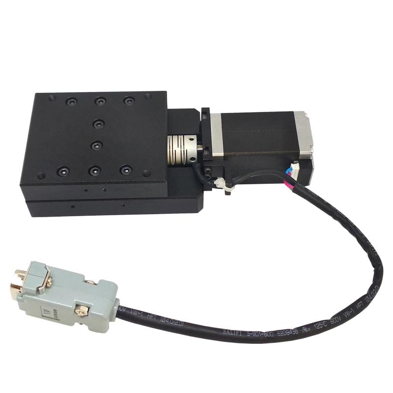 Plataforma de traducción eléctrica de alta precisión Estación de desplazamiento del eje X motorizada etapa lineal recorrido 30MM Y