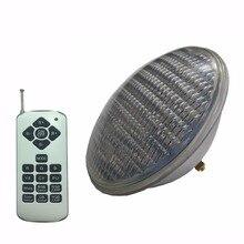LED 풀 프로젝터 54W RGB 스포트 라이트 다채로운 동기 IP68 수 중 조명 AC12V PAR56 수영장 할로겐 전구를 대체