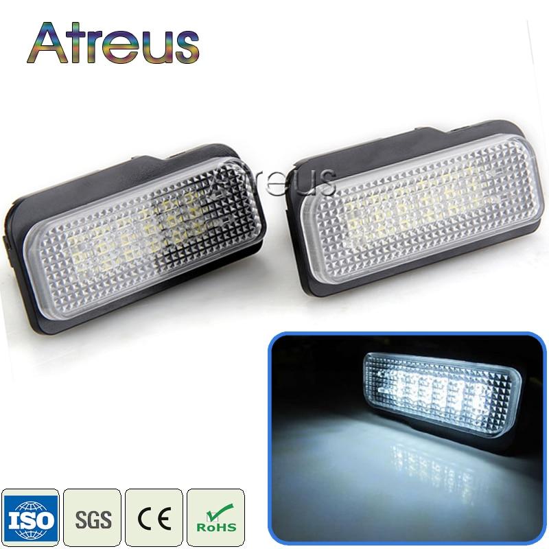 Luces de LED para matrícula de coche Atreus para Mercedes W211 W203 5D W219 R171 Benz AMG Accesorios blanco SMD lámpara de matrícula 12V