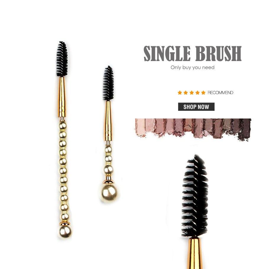 BROW AND LASH BRUSH professional eye lashes eyebrows comb makeup brushes black mascara powder cosmetics beauty make up tools