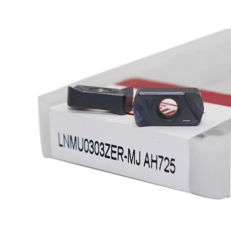 10 Uds. LNMU0303ZER MJ AH725 insertos de fresado TUNGALOY carburo inserto torno herramienta de corte herramienta de alta calidad