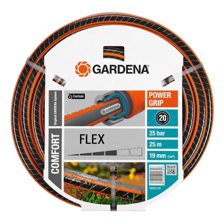 Шланг поливочный GARDENA 18053-20.000.00 (Длина 25 м,  диаметр 19 мм (3/4), устойчивость к перегибам, спутыванию и перекручиванию, устойчивость к давлению и деформации, стабильность формы, гибкость)