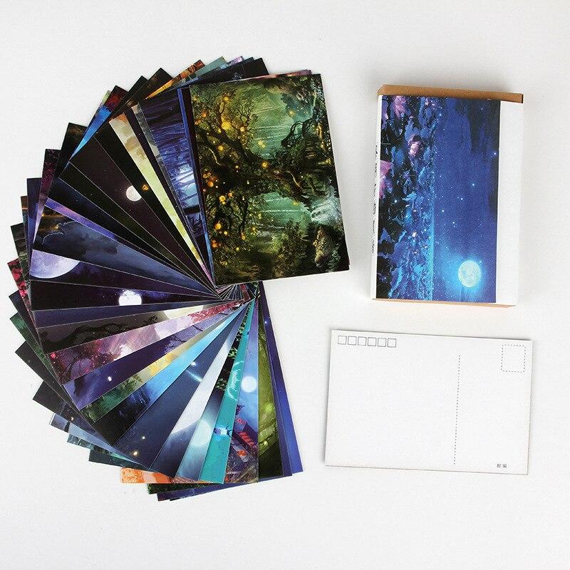 30 листов/набор темноте перед рассветом открытка/поздравительная открытка/карта сообщений/день рождения Письмо Конверт подарочная карта два размера