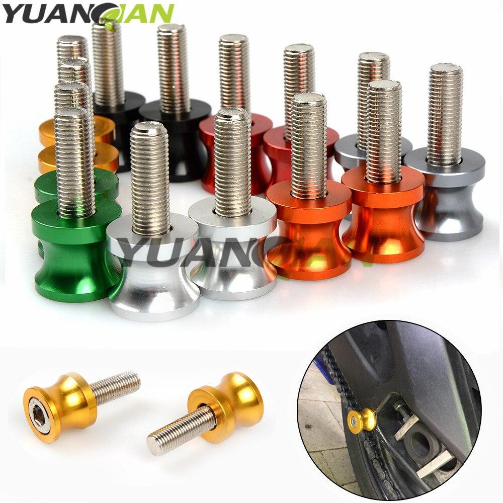 For honda CNC Aluminum Motorcycle parts Swingarm Sliders Spools For Honda CB600F 1000 CB 600 F cb600f Hornet CBR600F CBF600S SA