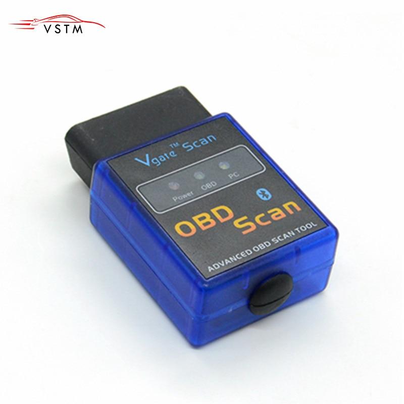 MINI ELM 327 Bluetooth 2,1 Diagnóstico auto escáner vgate OBD2/OBDII ELM327 V2.1 escáner de código compatible con protocolos de OBD-II