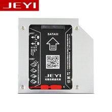 JEYI S27 Universal 2,5 2nd 12,7mm SSD HDD SATA extraño conducir adaptador de Bahía Caddy para 12,7mm de altura CD DVD ROM óptico UltraBay