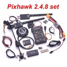 Pixhawk px4 piloto automático pix 2.4.8 controlador de vôo interruptor de segurança buzzer 8n gps mini osd i2c ppm rgb módulo 433/915 telemetria
